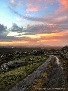 Galway Ireland Looks just like the road from Uncle Pat's home. Visited in 1973. Beautiful.