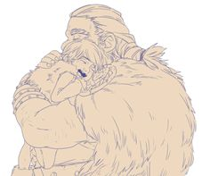 Stoick and little Hiccup. :)