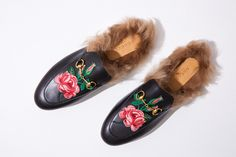 Gucci   Princetown Fur Loafers