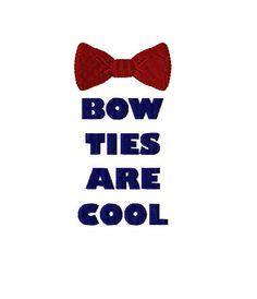 Bow Ties are Cool - Dr Who Machine Embroidery Design in 3 sizes - Instant Download - Dr Who Bow Tie by TedandFriends on Etsy https://www.etsy.com/listing/215601850/bow-ties-are-cool-dr-who-machine