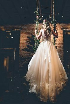 Beautiful Chapel Train Long Wedding Dress