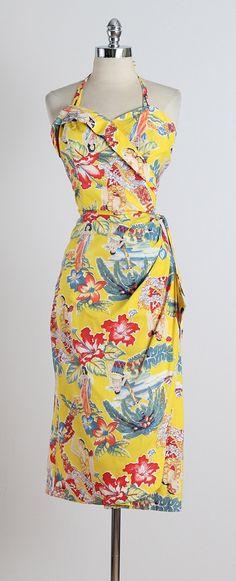 Frank Mcintosh . vintage 1950s dress . by millstreetvintage