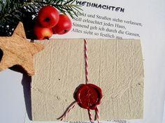 Deko und Accessoires für Weihnachten: Weihnachtsbrief Eichendorff made by paperuli via DaWanda.com