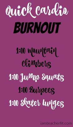 Quick Cardio Burnout