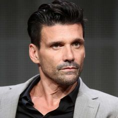 """Actor Frank Grillo speaks onstage at the """"Kingdom"""" panel during the DIRECTV portion of the 2014 Summer Television Critics Association at The Beverly Hilton Hotel on July 2014 in Beverly Hills,. Get premium, high resolution news photos at Getty Images Top Hairstyles For Men, Boy Hairstyles, Hairstyle Ideas, Shawn Mendes Hair, 50 Year Old Men, Finger Wave Hair, Haircut Images, Punch In The Face"""