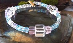 Bracelet Crystal Cubes Beautifully Blingful by CherylsGoodStuff, $15.00