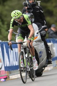 Giro d'Italia 2015 Stage 15 - Ryder Hesejdal (Cannondale-Garmin) trying to bridge across to the leaders