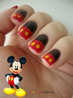 Mickey Mouse Nails...riley
