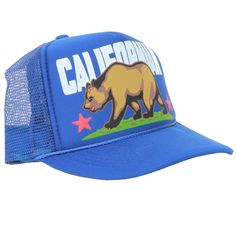 Californian Bear Flag Style Snapback - California Republic