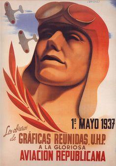 By José Briones (1905-1975), 1937, Aviacion Republicana, Republican poster Spanish Civil War. (Spain)