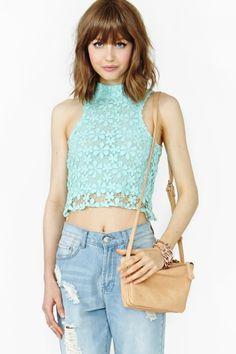 Victoria Crochet Crop Top
