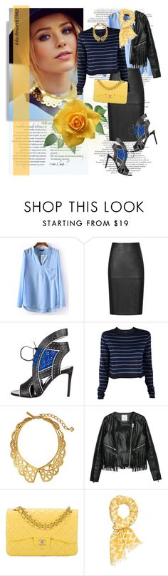 """Untitled #1705"" by lola-8march1982 ❤ liked on Polyvore featuring Reiss, Roberto Cavalli, TIBI, Oscar de la Renta, MANGO, Chanel and Slater Zorn"