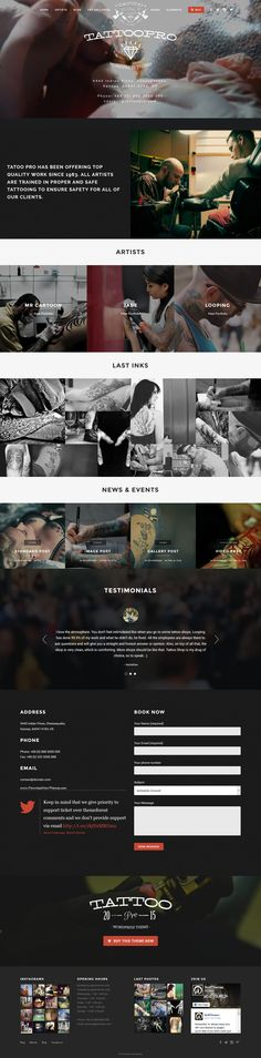 Tattoo Pro is a premium Wordpress theme for your #Tattoo #Shop. It uses the…
