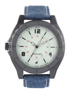 Fastrack Men's Analog Off-White Round Dial Trendy Watch