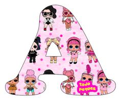 Letras LOL Surprise Abecedario para descargar gratis | Todo Peques 1st Birthday Girls, Unicorn Birthday Parties, Birthday Diy, Lol Doll Cake, Doll Party, Lol Dolls, Diy For Girls, Birthdays, Lettering