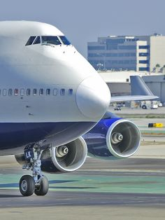 """Taxi at LAX""    British Airways Boeing 747-436 (G-BNLK)"
