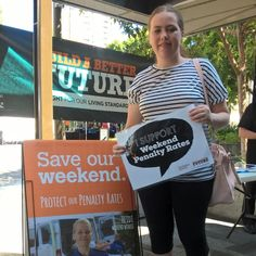 Sam in Townsville works causally and relies on penalty rates to make ends meet.
