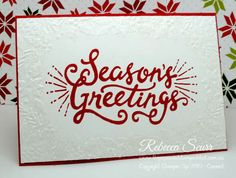 12 Weeks of Christmas - Week 2 - Berry Merry, Boughs & Berries embossing folder - Rebecca Scurr - Independent Stampin' Up! demonstrator - www.facebook.com/thepaperandstampaddict