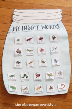 Get your class ready for spring with this adorable and INTERACTIVE insect unit anchor chart!