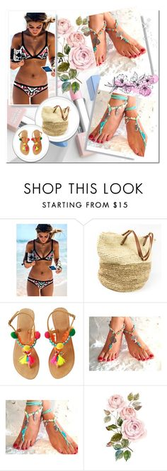 """SOFTCRYSTAL 11"" by albinnaflower ❤ liked on Polyvore featuring Seafolly, Sephora Collection and Karlsson"