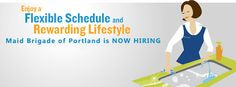 ✓ Maid Brigade of #Portland is #NowHiring housecleaners! Find out more! #employment