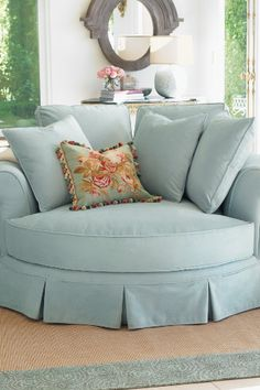 Canoodle Lounging Chair at Soft Surroundings  Perfect for a sitting area!