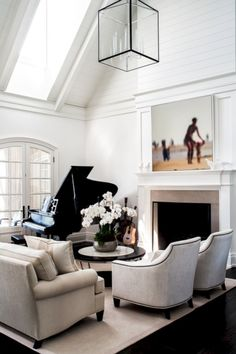 55+ Charming Modern Open Living Room Ideas http://cymberlynews.info/55-charming-modern-open-living-room-ideas/ Awesome, Amazing, Furniture Arrangement, Front Rooms, Room Ideas, Black And White Living Room Decor, Entryway Bench, Black White, Living Room Designs