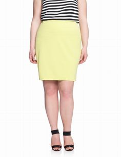 Zip Detail Pencil Skirt | Plus Size Pencil Skirts | eloquii by THE LIMITED