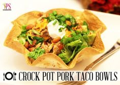 Yum! Crockpot taco bowls! #BabyCenterBlog #crockpotrecipes #slowcookerrecipes
