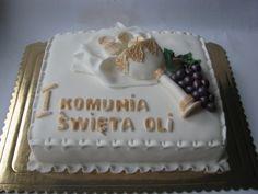 Galeria tortów First Communion, Desserts, Kids, First Holy Communion, Birthday Cakes, Fondant Cakes, Kuchen, Deco, Tailgate Desserts
