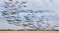 (12) Alle opstijgende vliegtuigen op één foto - Bijzondere 'Airportraits'   Inspiratie   Zoom.nl