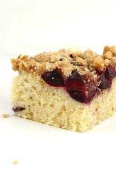 Sour Cherry Crumble Coffee Cake
