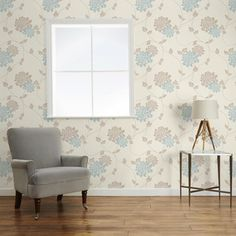Find sophisticated detail in every Laura Ashley collection - home furnishings, children's room decor, and women, girls & men's fashion. Childrens Room Decor, Lounge Decor, Blue Floral Wallpaper, Home Furnishings, Damask Decor, Grey And Green Wallpaper, Space Decor, Home Decor, Furnishings