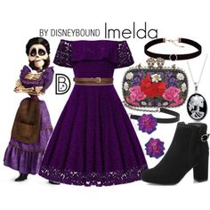 DisneyBound - Imelda from Disney Pixar Coco Cute Disney Outfits, Disney Themed Outfits, Disney Dresses, Cute Outfits, Disney Clothes, Disney Cosplay, Disney Costumes, Moda Disney, Disney Mode