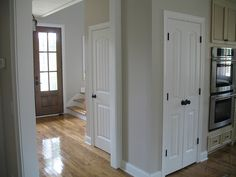 Love these doors and ORB hardware/ knobs