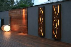 5 Garden Decor Ideas That Will Change Your Whole Outdoor- www.lightingstore… Check out these garden decor ideas that will change your whole outdoor! Contemporary Outdoor Lighting, Landscape Lighting, Outdoor Walls, Outdoor Decor, Outdoor Furniture, Outdoor Projects, Outdoor Living, Laser Cut Panels, Outdoor Light Fixtures
