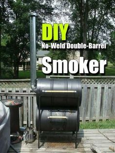 DIY No-Weld Double-Barrel Smoker #prepping #preparedness #prepper #survival #shtf #homestead #homesteading #selfsufficient #smoker #diysmoker #noweldsmoker #homemadesmoker