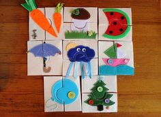 Текстильные развивающие игрушки пазлы