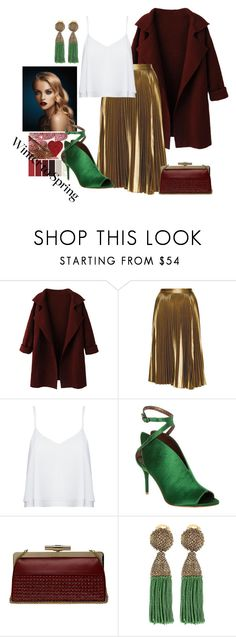 """""""bohemian"""" by elisire ❤ liked on Polyvore featuring WithChic, A.L.C., Alice + Olivia, Max Studio, Elie Saab, Oscar de la Renta, GREEN, cocktail, winterstyle and marsala"""