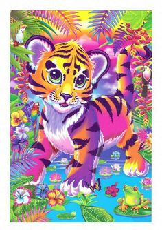 Lisa Frank Tiger Art Cover Coloring and Activity Book with 100 Stickers Princesa Amber, Lion Tigre, Lisa Frank Stickers, Tiger Art, Tiger Cubs, Bear Cubs, Arte Pop, Color Activities, Cat Art