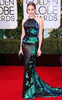 2016 Golden Globes Red Carpet Arrivals Carly Chaikin, Golden Globe Awards