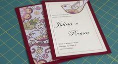 Invista em convite artesanal com tecido para a sua próxima festa, assim todos irão ver como você tev