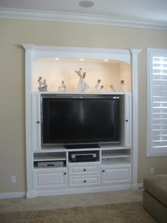 Media Niches - Traditional - Living Room - orange county - by CustomBuilt-ins.com / CFM Company Inc.