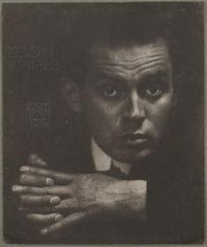 Anton Josef Trcka, Egon Schiele, 1914 Bromöldruck auf Untersatzkarton