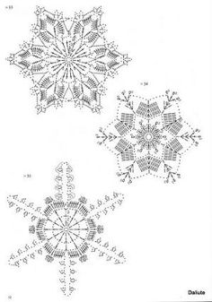 Tammy Jones's media content and analytics Crochet Snowflake Pattern, Crochet Stars, Crochet Snowflakes, Thread Crochet, Crochet Granny, Filet Crochet, Crochet Motif, Crochet Doilies, Crochet Stitches