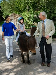 The Swedish Royal  Court  has released  new  photos of Crown Princess Victoria, Princess Estelle and  King Carl Gustaf.