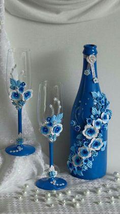decorated wine glasses glass crafts