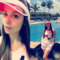 I'm your cherry-berry...  TOP WITH CHERRY PRINT, H&M DENIM SHORTS VINTAGE POOL CAP  #TOP #CHERRY #PRINT #DENIM #SHORTS #WHITE #RED #VINTAGE #POOL #CAP #MUNICH #GERMANY #SPAIN #GIRL