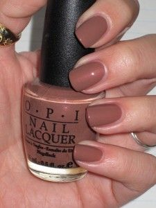 OPI Los Angeles Latte:  I love the revival of brown nail polish colors!  Takes me back to the 70s when that's the only color we wore in college!