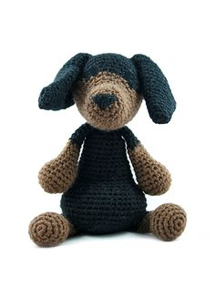 Part of the brand new collection of amigurumi crochet dogs designed by Kerry Lord. This amigurumi dachshund is crocheted in TOFT aran yarn and makes the perfect gift for adults and children alike. THIS KIT CONTAINS: 200g of Aran Yarn in charcoal and 100g of fudge wrapped up in a TOFT cotton tote. To complete your dachshund you will need toy stuffing plus a scrap of black thread for eyes and nose. You can download the pattern in a universal A4 format from a link which will appear at the…